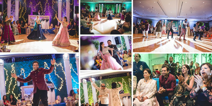 Multiple Images Of Wedding Celebrations Organised In A Single Image.